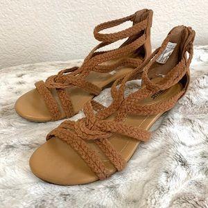 Seychelles Braided Woven Strap Gladiator Sandals